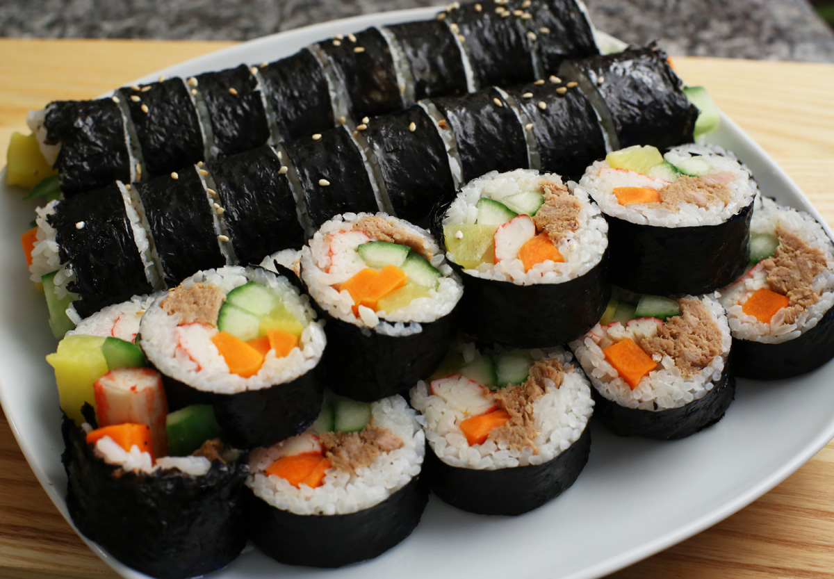 Korean food photo kimbap for Cuisine korean