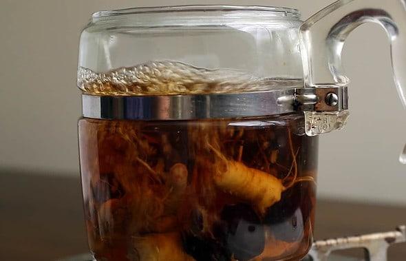 Ginseng jujube tea