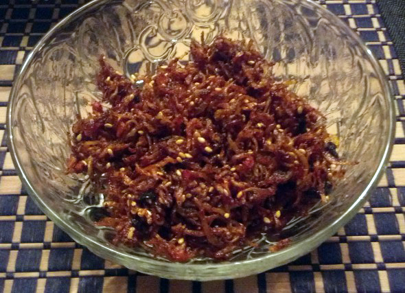 dried anchovy side dish (멸치볶음)