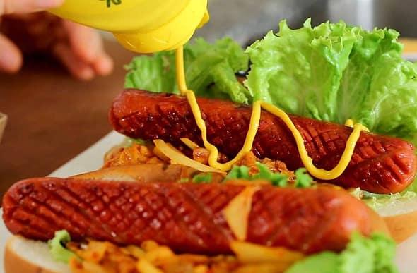 kimchi hot dog