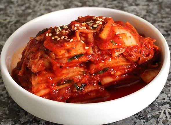 fermented kimchi (포기김치)