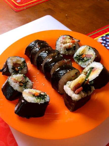 gimbap (김밥: kimbap)