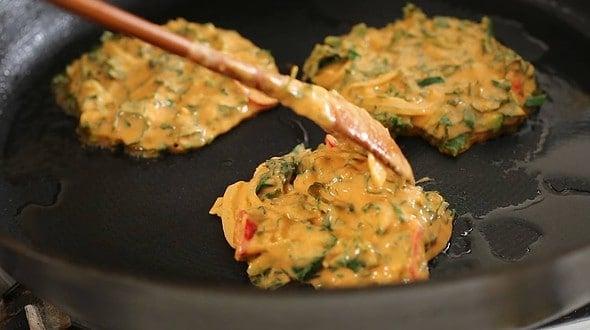 kale pancakes (케일장떡)