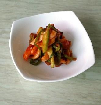 sweet sour spicy minari beoseot chomuchim