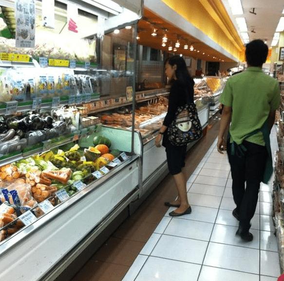 papaya supermarket in Indonesia