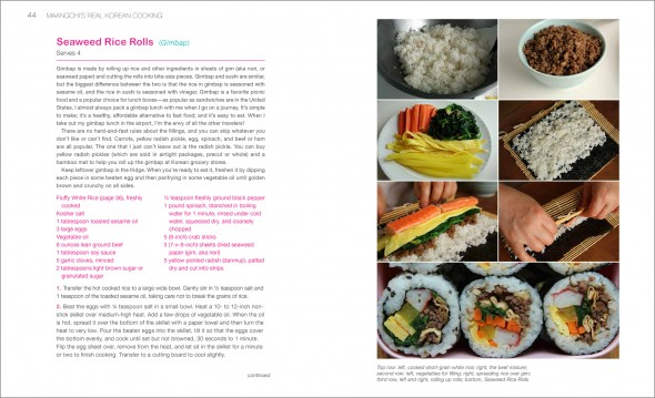 Gimbap pages from Real Korean Cooking