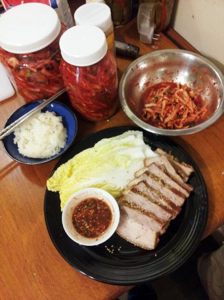 Bossam + Kimchi