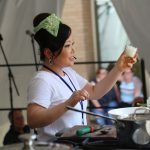 Maangchi cooking at the Decatur Book Festival