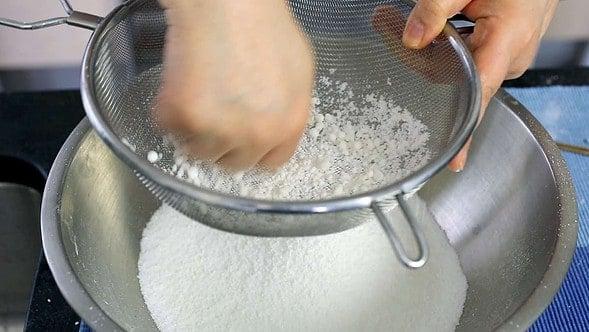 rice cake flour sifting