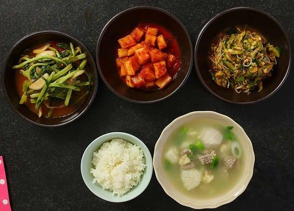 taro soup (toran-guk : 토란국)