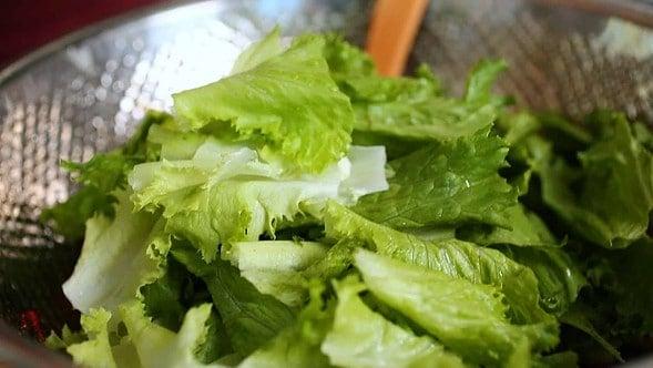 Korean lettuce salad (Sangchu geotjeori: 상추겉절이)