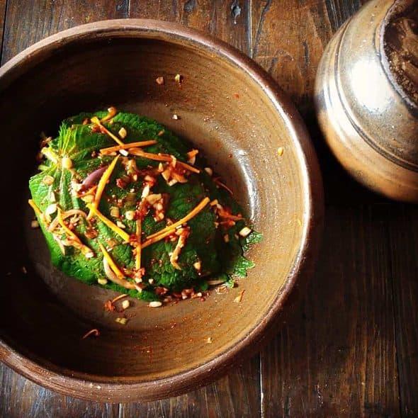 Kkaenip-kimchi