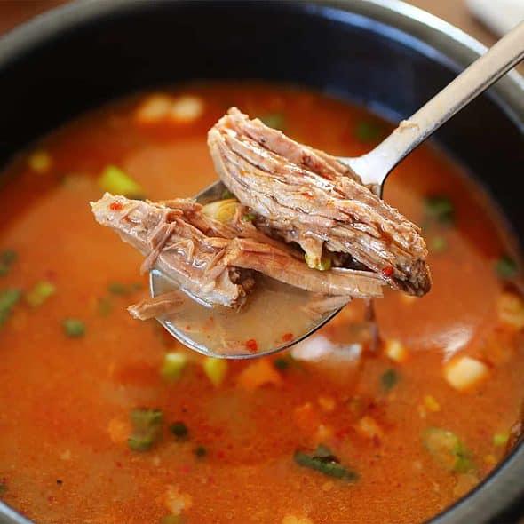 ox-bone soup