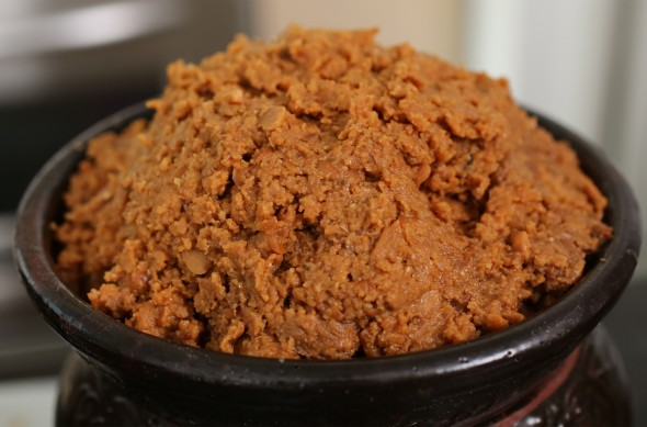 homemade doenjang (집된장)