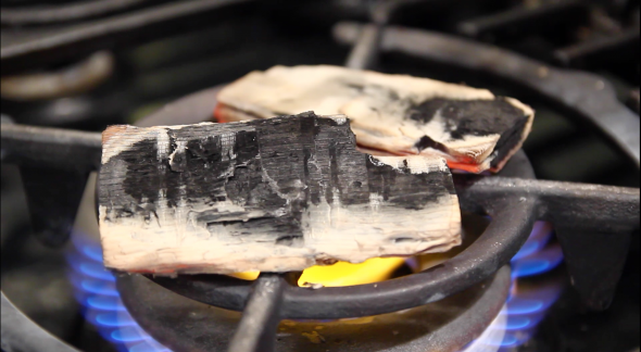 heating charcoal
