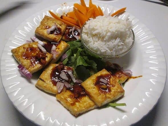 Pan Fried Spicy Tofu