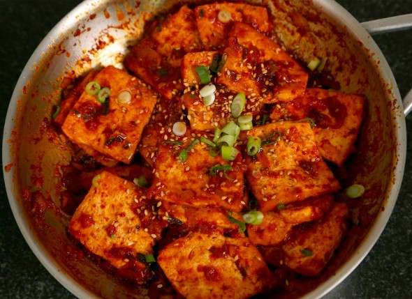 dubujorim (spicy braised tofu: 두부조림)