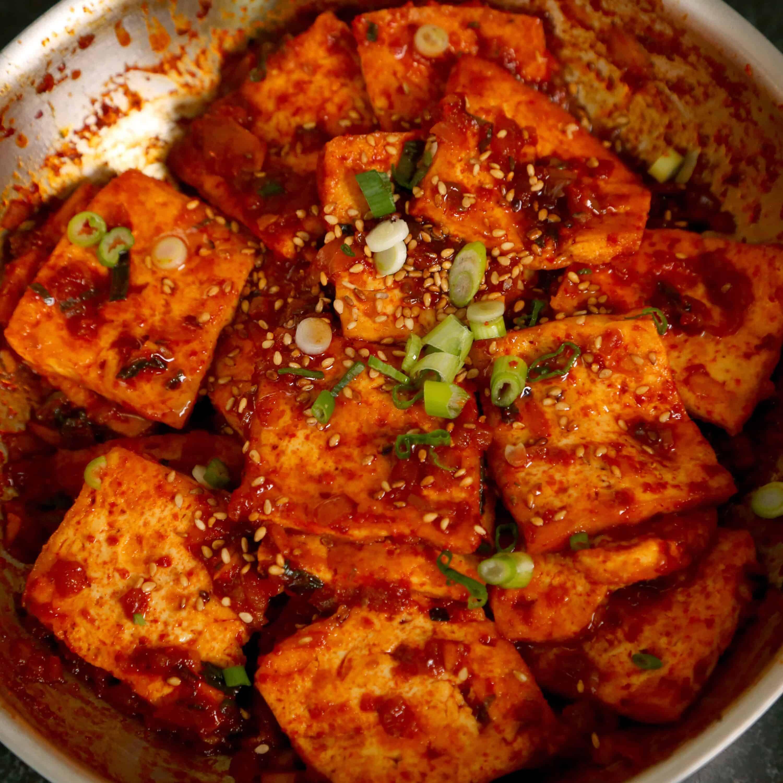 Spicy braised tofu dubu jorim recipe maangchi forumfinder Choice Image