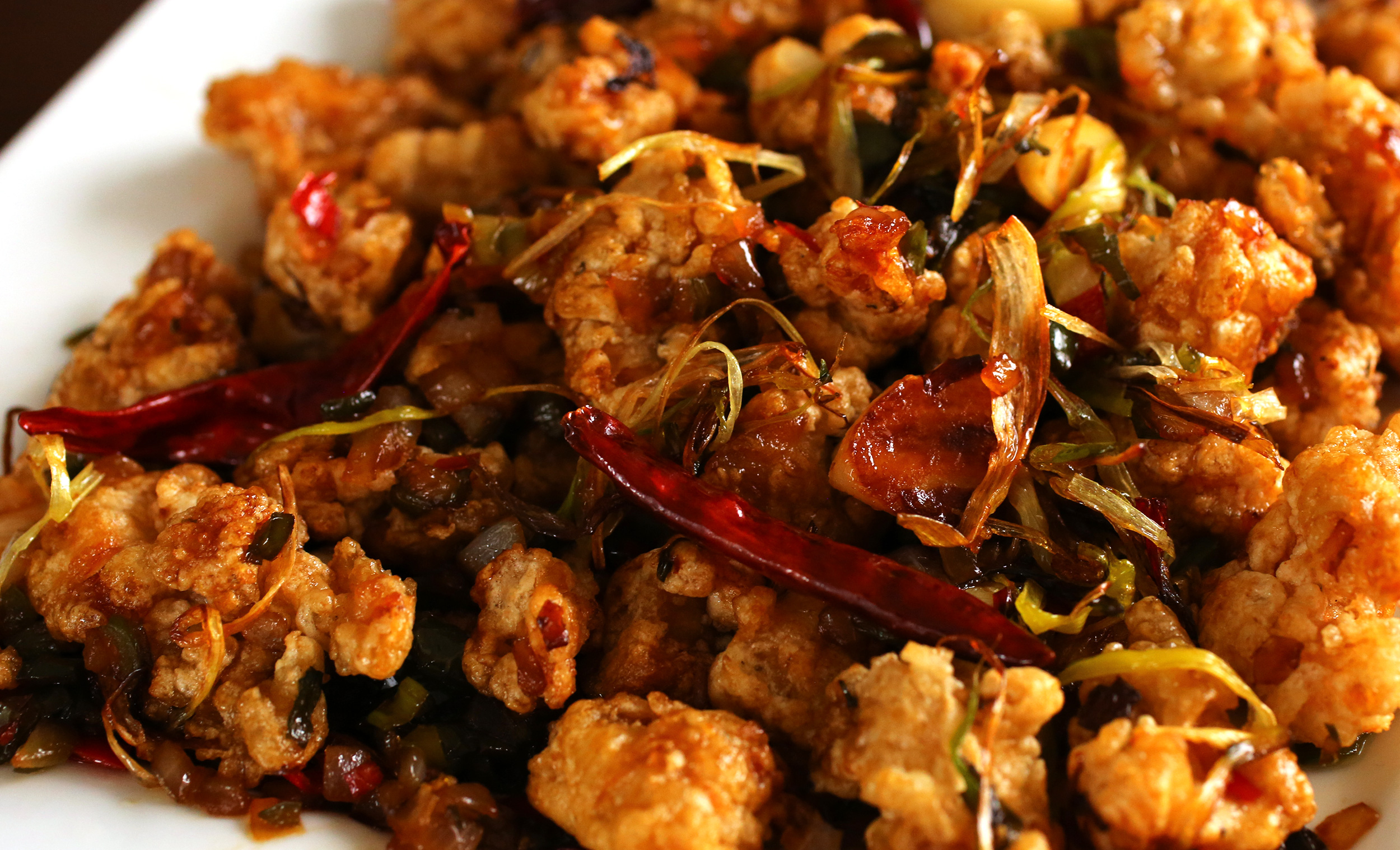 Spicy garlic fried chicken kkanpunggi recipe maangchi spicy garlic fried chicken kkanpunggi forumfinder Image collections
