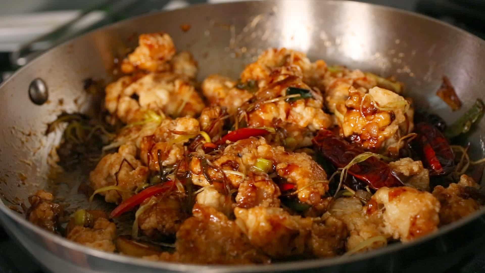 Spicy Garlic Fried Chicken Kkanpunggi 깐풍기 Recipe