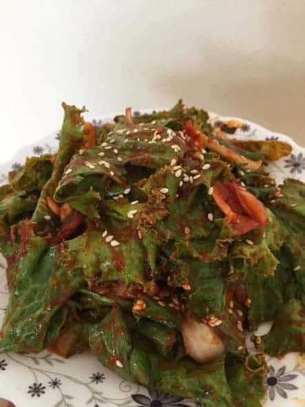 lettuce salad (상추겉절이)