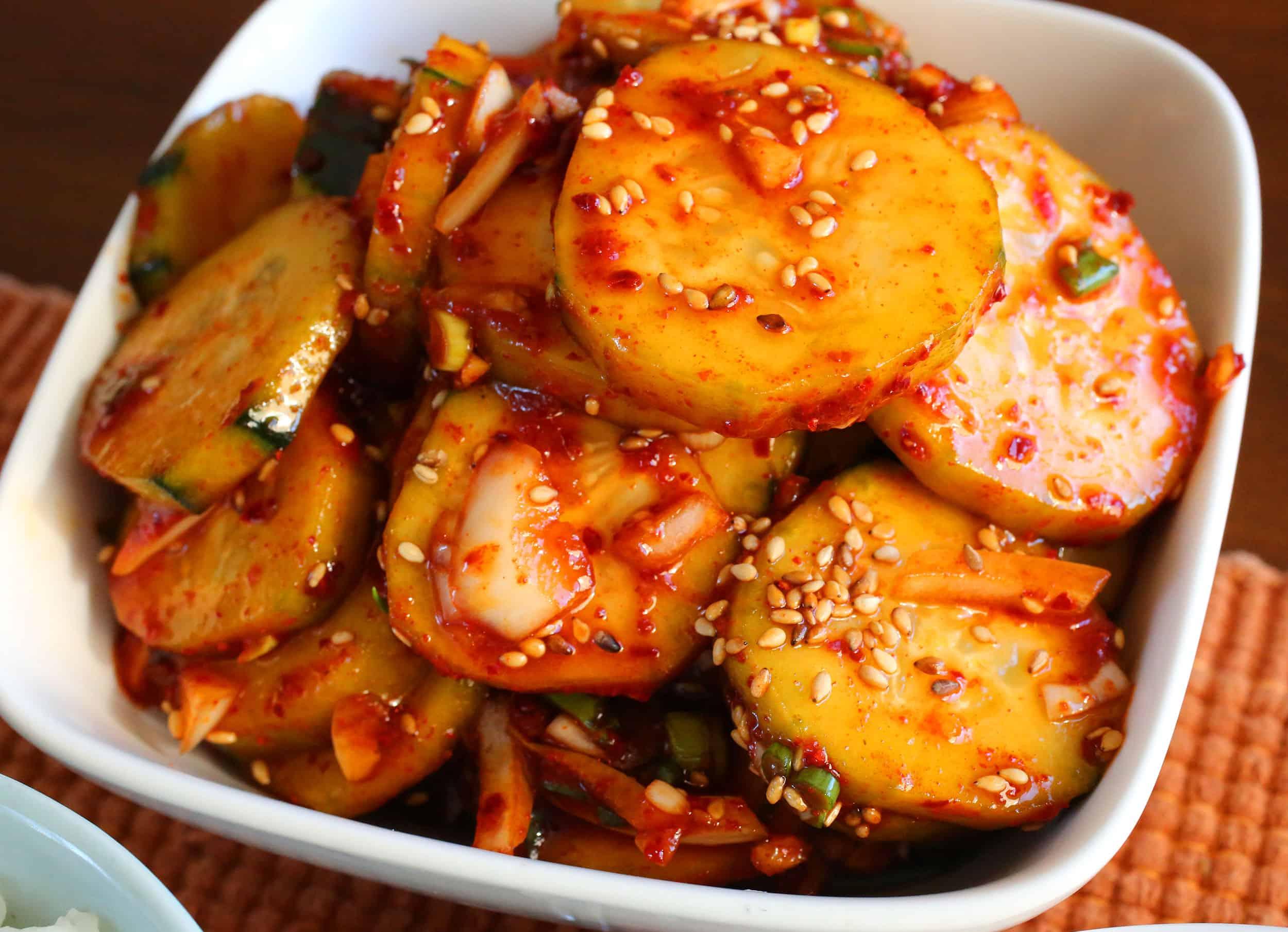 Korean food photo easy and delicious korean spicy cucumber korean cucumber salad oimuchim forumfinder Gallery