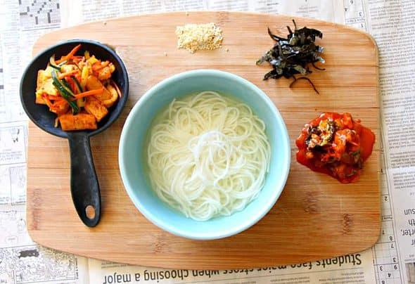 Korean Guksu Noodle Soup