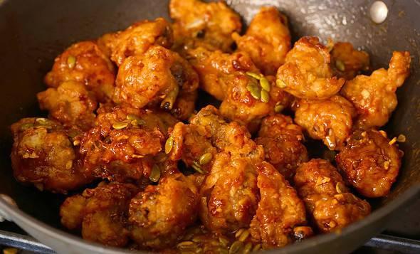 Korean honey butter fried chicken