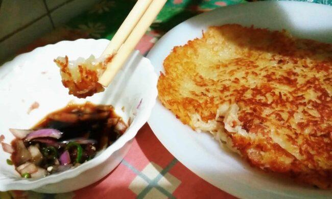 Simple potato pancake