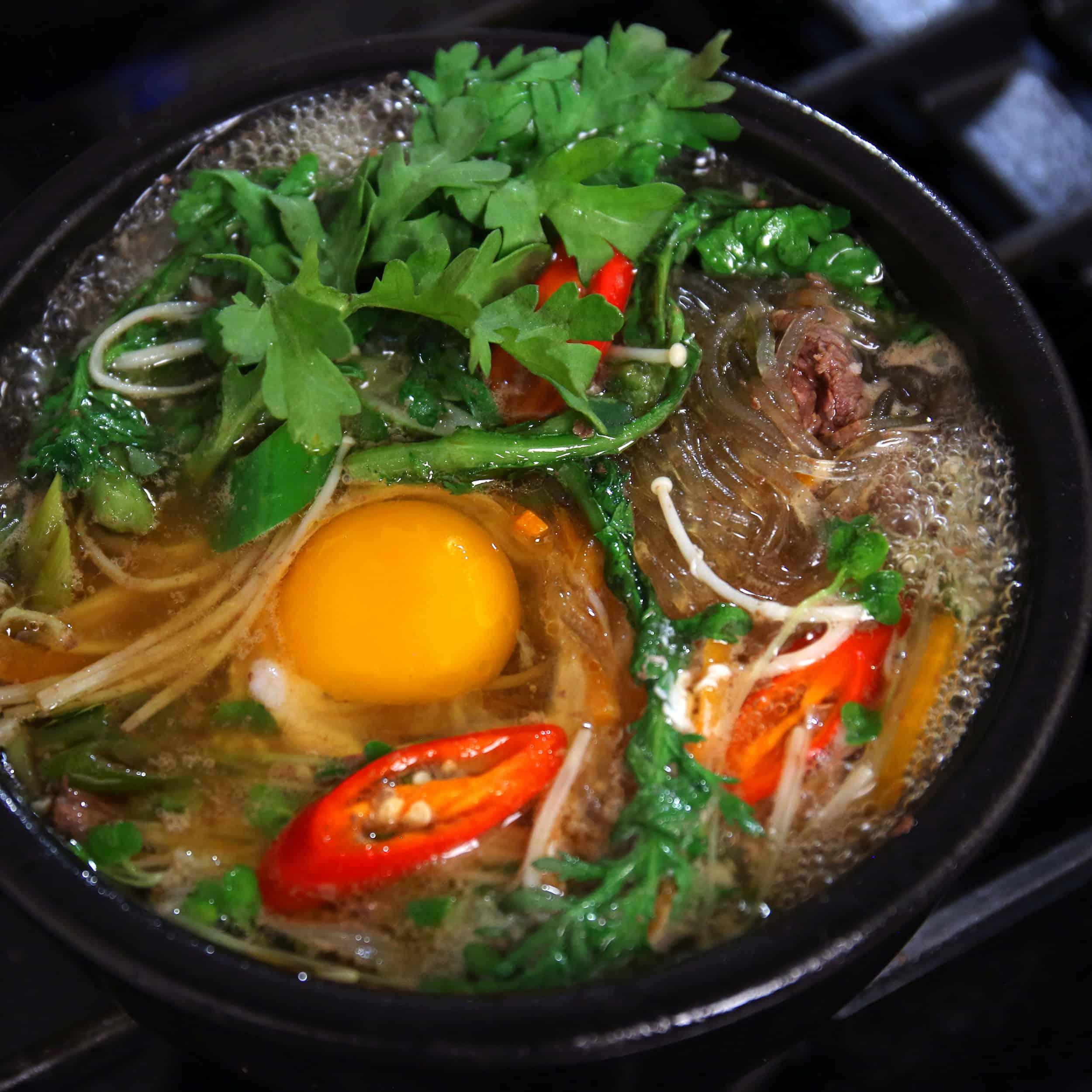 Bulgogi stew in an earthenware pot (Ttukbaegi ... - Maangchi