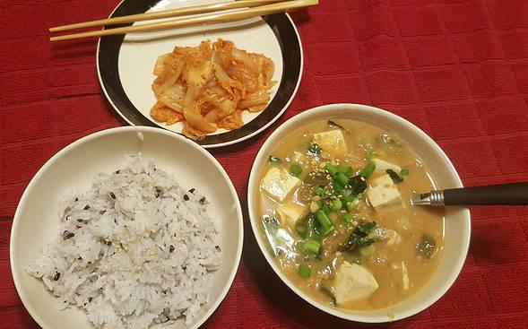 Vegetarian doenjang-jjigae