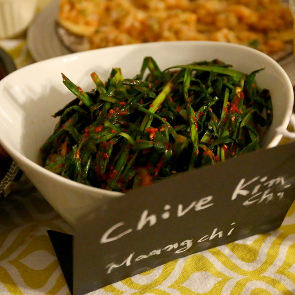 buchu-kimchi (chive kimchi: 부추김치)