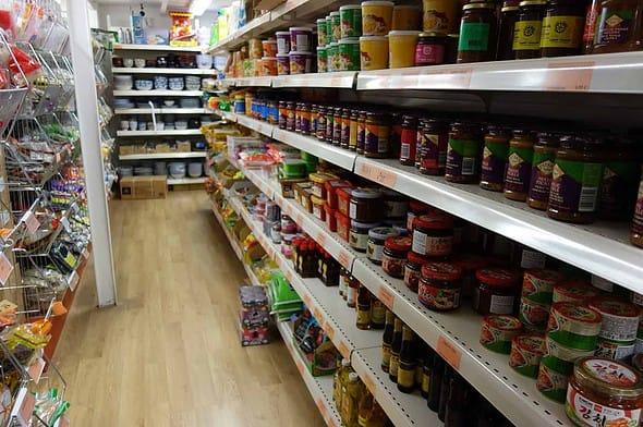 Mondial Market shelves