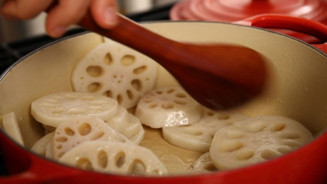 lotus root frying