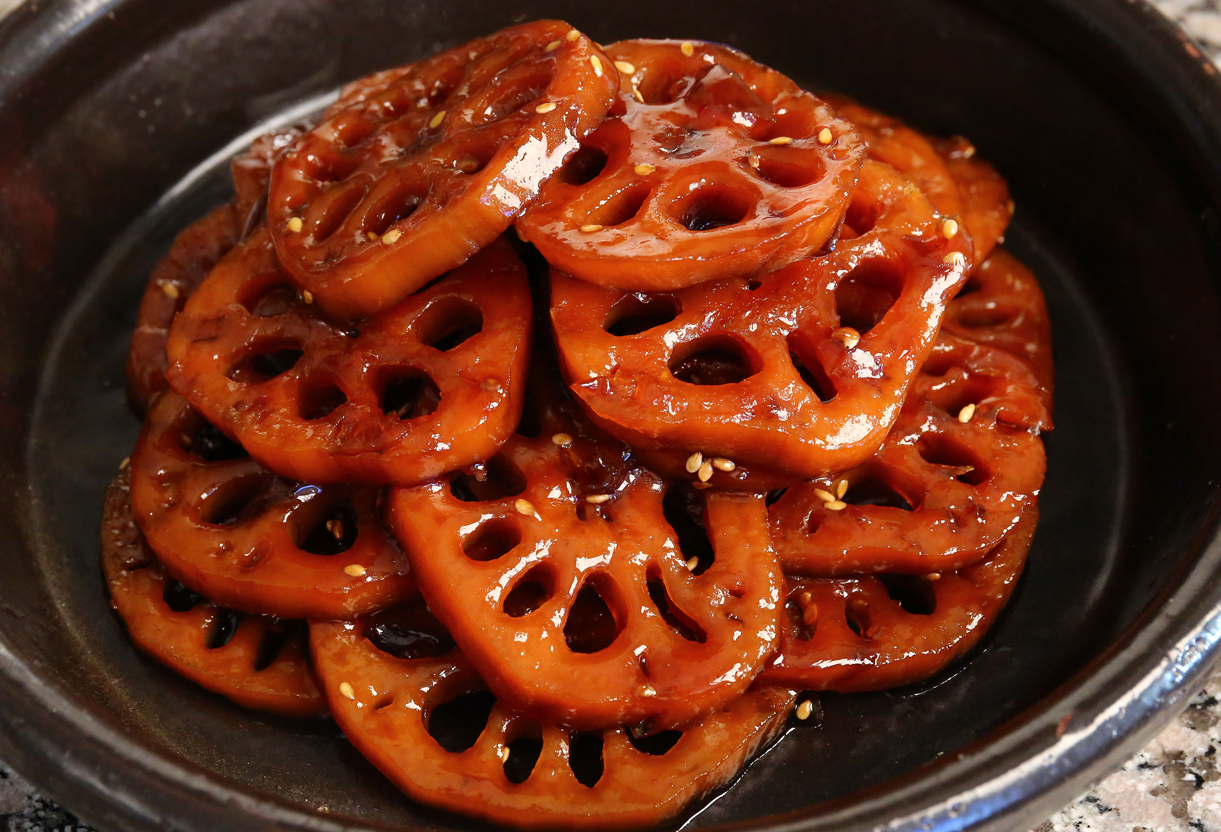 Korean vegetarian recipes from cooking korean food with maangchi braised lotus roots forumfinder Images
