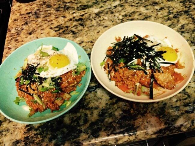 Kimchi-bokkeumbap!