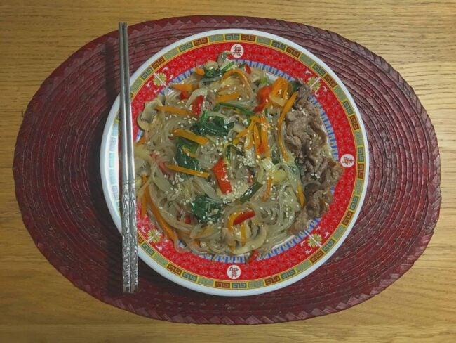 Homemade japchae (잡채)