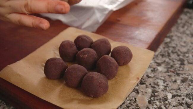 red bean balls