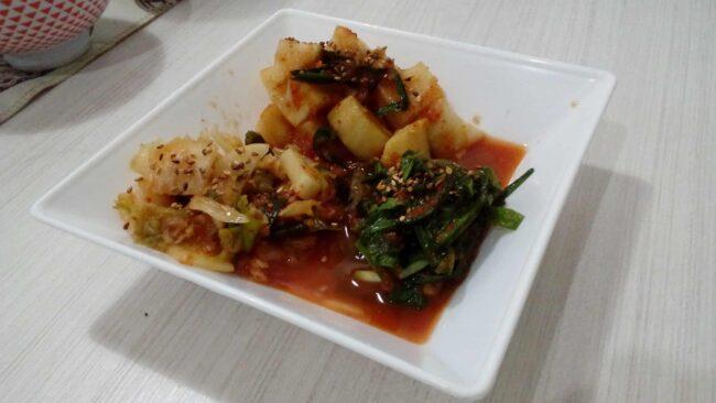 3 types of kimchi