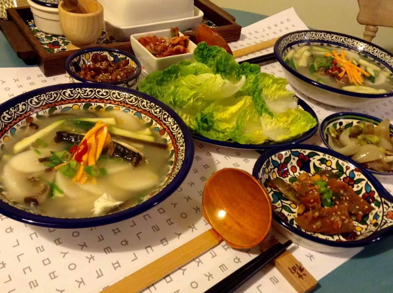 Korean dinner & korean table setting - Cooking Korean food with Maangchi