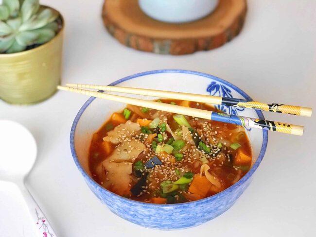 Kimchi Sujebi by @karaleedee