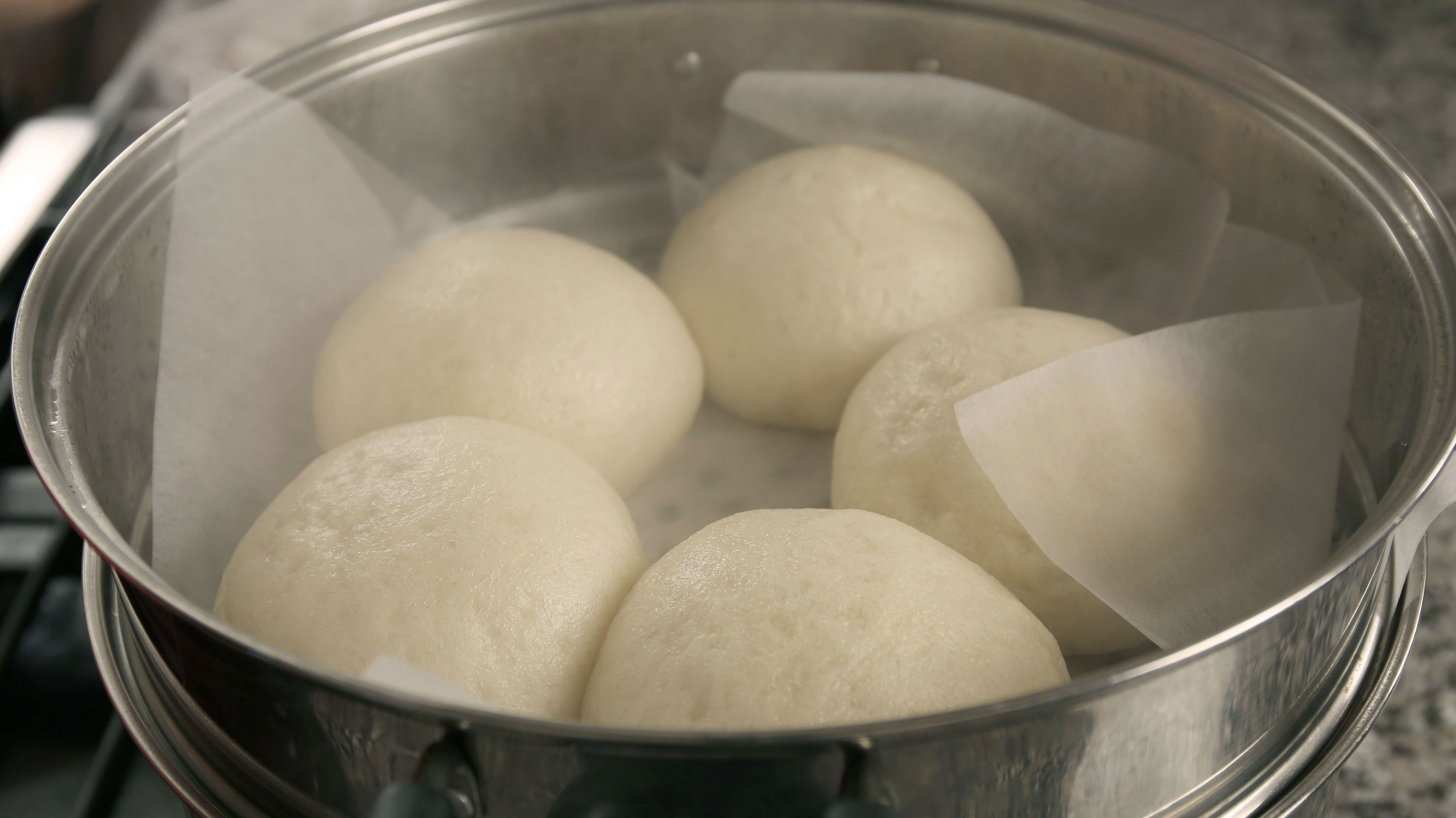 steamed buns with sweet red bean paste filling - Cooking ...