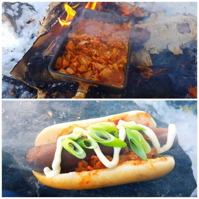 Vegan Kimchi Hot Dog