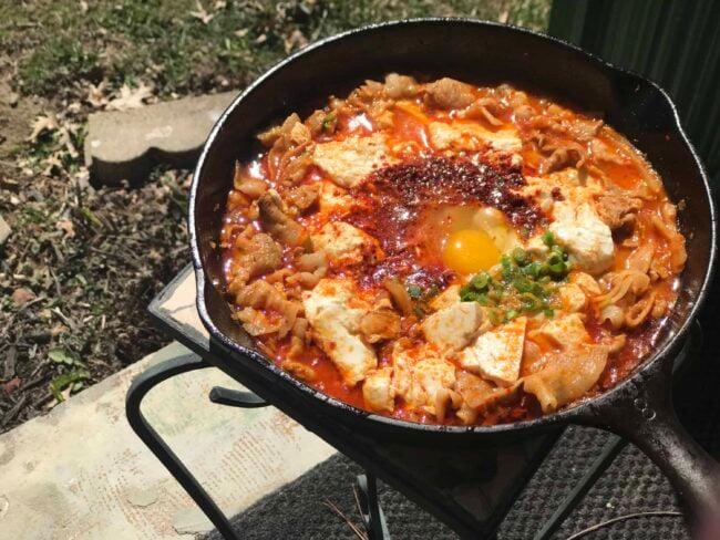 Soondubu-Jjigae (Korean spicy soft tofu stew)