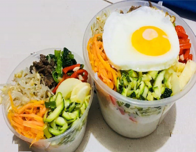 My husband's  favorite Korean dish bibimbap!