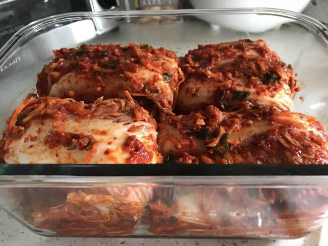 Yum yum yum kimchi!