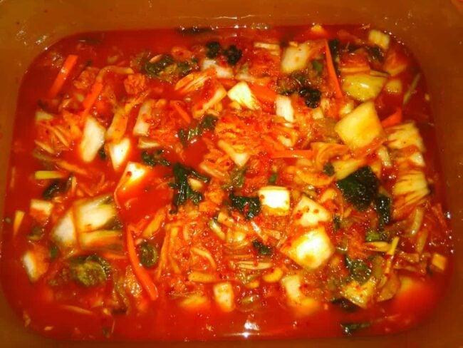 My first batch of Kimchi