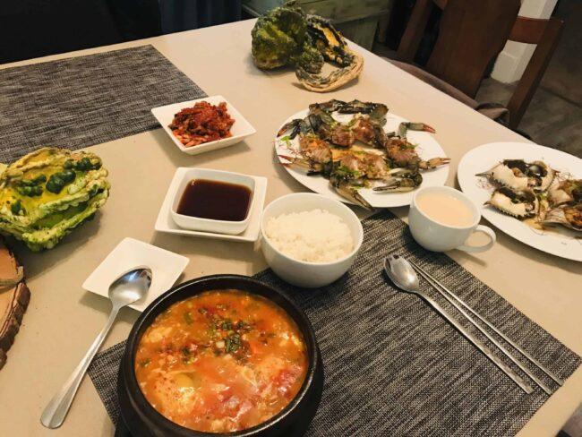 Ganjang-gejang dinner