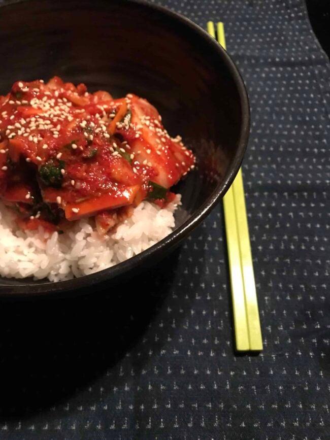 Tongbaechu-kimchi