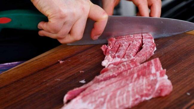 cubing pork